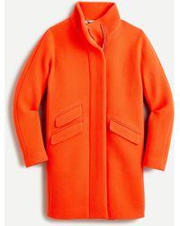 J.Crew Cocoon Coat In Italian Stadium-cloth Wool - Orange