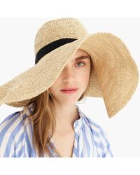 J.Crew Extra-wide Brim Packable Hat