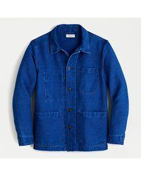 J.Crew Wallace & Barnes Chore Jacket In Indigo Chamois - Blue