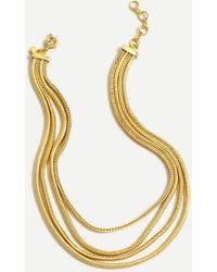 J.Crew Layered Snake Chain Necklace - Metallic