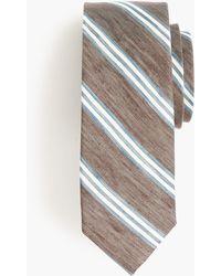 J.Crew - Silk-linen Tie In Variegated Stripe - Lyst