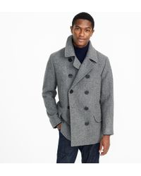 J.Crew Dock Peacoat With Thinsulate - Gray