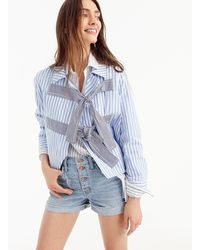 J.Crew - High-rise Denim Short With Button Fly - Lyst