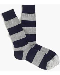 J.Crew Wide Stripe Socks - Blue