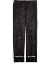 J.Crew Wide-leg Pant In Palm Tree Jacquard - Black