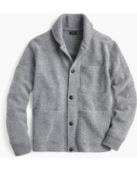 J.Crew Chore Jacket In Brushed Lambswool - Gray