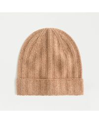J.Crew Ribbed Cashmere Beanie - Natural