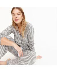 J.Crew - Dreamy Cotton Pajama Set In Stripe - Lyst