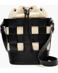 J.Crew - Woven Leather-and-canvas Bucket Bag - Lyst