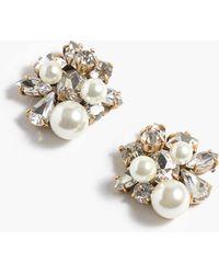 J.Crew - Pearl And Crystal Earrings - Lyst
