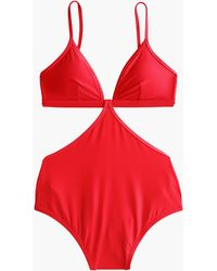 J.Crew - Cutout One-piece Swimsuit - Lyst