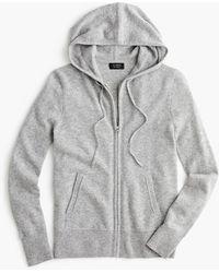 J.Crew Everyday Cashmere Zip-front Hoodie - Grey