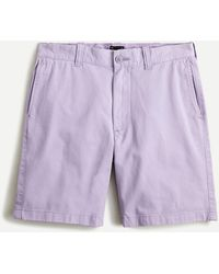 "J.Crew 9"" Short In Garment-dyed Cotton - Purple"
