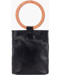 Modern Weaving - Wood Circle Handle Tote Bag In Natural - Lyst