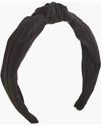 J.Crew - Satin Turban Headband - Lyst
