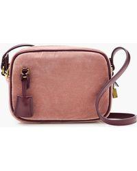 J.Crew Mini Velvet Signet Bag - Pink