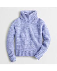 J.Crew Chunky Alpaca Turtleneck Sweater - Blue