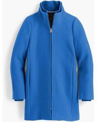 J.Crew Lodge Coat In Italian Stadium-cloth Wool - Blue