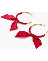 J.Crew - Ribbon-wrapped Hoop Earrings - Lyst