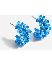 J.Crew Soft Bouquet Hoop Earrings - Blue