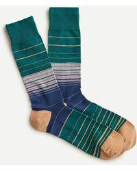 J.Crew Multistripe Socks - Green
