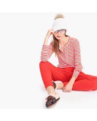J.Crew - Striped Henley Pyjama Top In Dreamy Cotton - Lyst