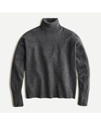 J.Crew Relaxed-fit Cashmere Turtleneck Jumper - Grey