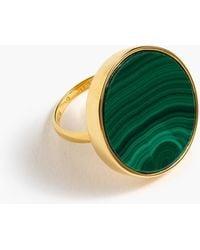 J.Crew - Demi-fine 14k Gold-plated Malachite Ring - Lyst