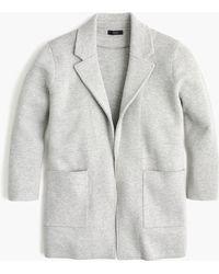 J.Crew Sophie Open-front Sweater-blazer - Grey