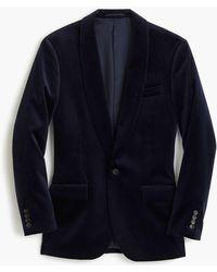 J.Crew - Ludlow Shawl-collar Velvet Blazer - Lyst