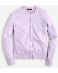 J.Crew Cotton-blend Jackie Cardigan Jumper - Purple