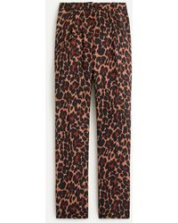 J.Crew High-rise Wide-leg Trouser In Leopard - Brown