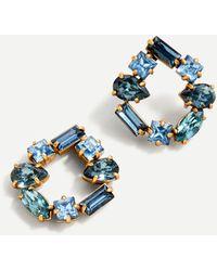 J.Crew - Crystal Open Circle Earrings - Lyst