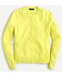 J.Crew Cotton-blend Jackie Cardigan Jumper - Yellow