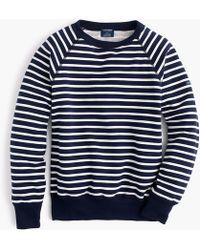 Saint James Striped Sweatshirt - Blue