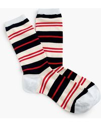 J.Crew - Trouser Socks In Colorful Stripe - Lyst