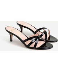 J.Crew Skinny-strap Sandals In Patent Leather - Black
