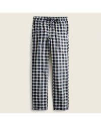J.Crew Flannel Pajama Pant - Blue