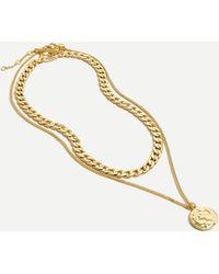 J.Crew Gold Chain toggle Necklace - Metallic