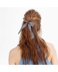 J.Crew - Taffeta Ribbon Hair Tie - Lyst