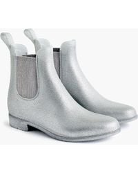 J.Crew - Glitter Chelsea Rain Boots - Lyst