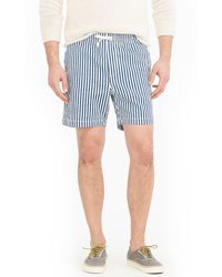 J.Crew - Stretch Dock Short In Cotton Stripe - Lyst