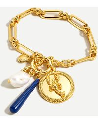 J.Crew Lobster Charm Chain Bracelet - Metallic