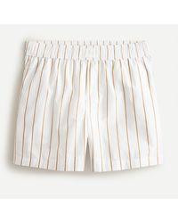 J.Crew Cotton Poplin Boxer Short In Stripe - White