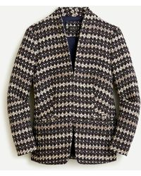 J.Crew Collection Going-out Blazer In Italian Jacquard - Multicolour