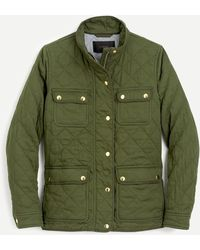 J.Crew Quilted Downtown Field Jacket - Green
