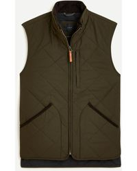 J.Crew Sussex Quilted Vest With Primaloft® - Green