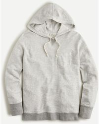 J.Crew Vintage Cotton Terry Relaxed Hoodie - Gray