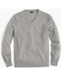 J.Crew Everyday Cashmere V-neck Sweater - Gray