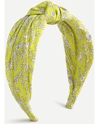 Liberty Turban Knot Headband In ® Print - Yellow